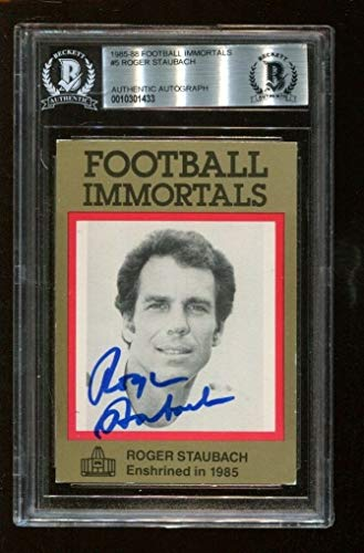 (Roger Staubach Autographed Signed Memorabilia 1985 Football Immortals Auto Cowboys - Beckett Authentic)
