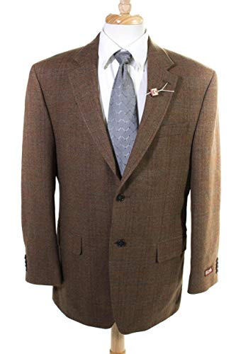 (Michael. Kors. Mens Wool Two Button Notched Collar Blazer Brown Size)