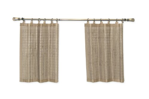 Bamboo Ring Top Curtain BRP05 2-Piece Ring Top Tier Set, 48 by 24-Inch, Driftwood by Bamboo (Image #1)