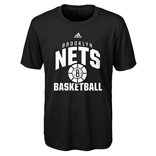 fan products of NBA Rep Big Performance Short Sleeve Tee-Black-M(10-12), Brooklyn Nets