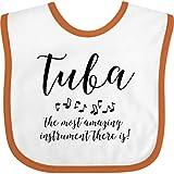 Inktastic Amazing Tuba Baby Bib White and Orange