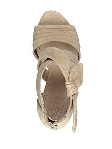 Guess Kvinnor Azali Klack Sandal Lätt Naturlig Mocka