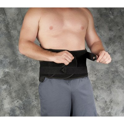 Fusion System Lumbosacral Orthosis in Black Size: Regular by Core Products