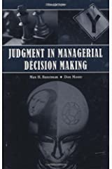 Judgment in Managerial Decision Making Hardcover