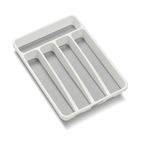 Nonslip Lining and 5 Compartments Classic Small Cutlery Tray in (5 Compartment Cutlery Tray)