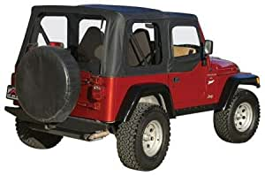 One New Complete Soft Top, Black Diamond - Crown# CT20135 Jeep Wrangler TJ 97-06