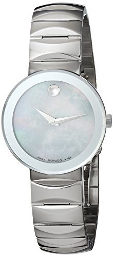 - Movado Women's Swiss Stainless Steel Quartz Watch, Color:Silver-Toned (Model: 0607048)
