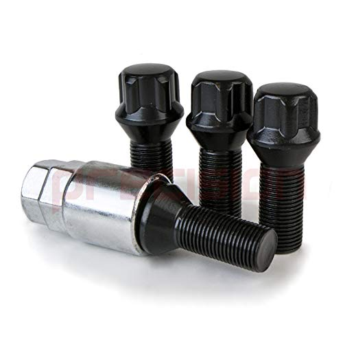 Precision Black Chrome Locking Alloy Wheel Bolts for ƁMW 1 Series M PN.SFP-B425B112