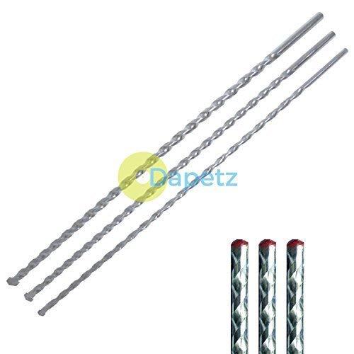 Dapetz ® Masonry Drill Bits 400mm Long Sizes 8, 10, 12mm Masonry Wall Drill Bit