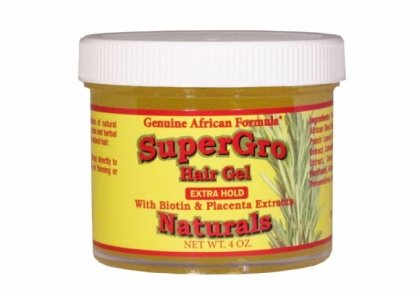 Genuine African Formula Supergrow Hair Gel Extra Hold 4-Ounce Geniune African Formula