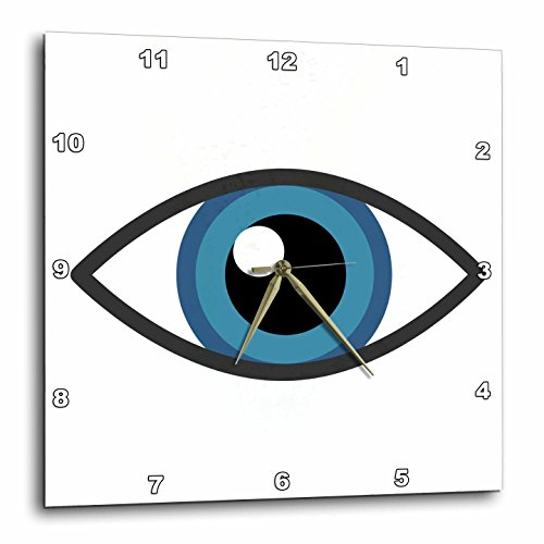 3Drose Xander Inspirational Images   Eye  Picture Of An Eye On White Background   15X15 Wall Clock  Dpp 265900 3