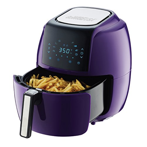 GoWISE USA 5.8-QT Programmable 8-in-1 Air Fryer XL + 50 Recipes for your Air Fryer Book (Plum) by GoWISE USA (Image #2)