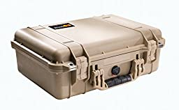 Pelican 1500 Case with Foam for Camera (Desert Tan)