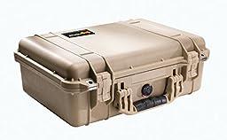 Pelican 1500 Camera Case With Foam (Desert Tan)