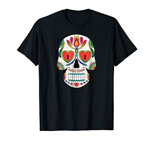 Halloween Sugar Skull Costume Idea Shirt for Day of the Dead