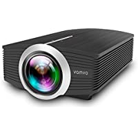 Vamvo LED Projector 1080P 1200 Lumens Portable for Indoor Outdoor, A mini Home Theater Movie Projector Support Laptop/Smartphone/iPad/TV by HDMI/VGA/SD/USB/AV Input