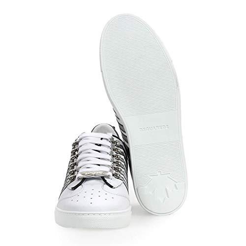 Ss Dsquared2 251 Top Low Da Scarpe Sneaker Bianco Grigio Uomo 2019 45RjL3Aq