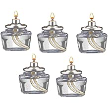 D'light Online 10 Hour Clear Plastic Liquid Disposable Fuel Cell Oil Candle Cartridge HD10-144 Pack