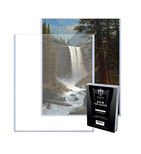 (25) 8x10 MAX Pro Photo / Print Hard Rigid Ultra Clear Toploader Holder - 25ct