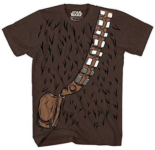 Star Wars Chewbacca Chewie Costume Funny Humor Pun Youth Kid's Graphic Tee T-Shirt (Brown, Large (18)) -