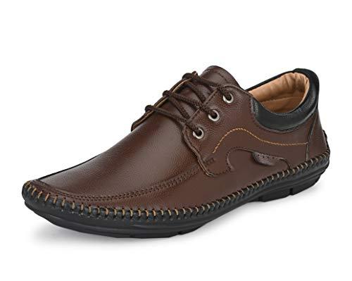 Mactree Men Flexible-Stitched Sole Premium Formal Shoes for Men D-K10 Brown-Black_9