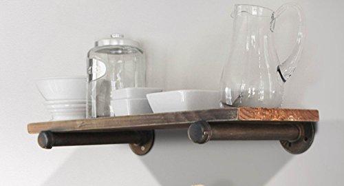 Cheap Industrial Pipe Shelf Wall Mount Iron DIY Storage Shelving Bookshelf a Layer wood shelf
