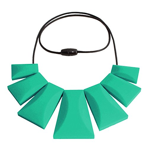 Egyptian Tribal Large Necklace Hypoallergenic Silicone Jewelry Teething Teal (Egyptian Chicks)