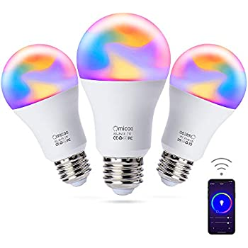 omicoo smart led bulb e27 wifi multicolor light bulb compatible with alexa echo google home. Black Bedroom Furniture Sets. Home Design Ideas
