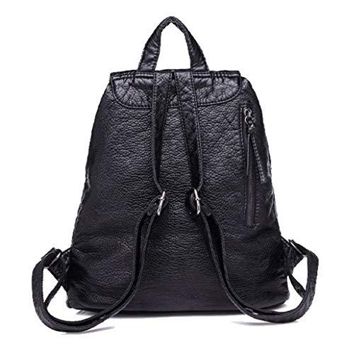 FBUFBC208162 Sacs PU AllhqFashion Noir fourre Mode Sacs à Femme Cuir Noir Tout bandoulière q11WSvn