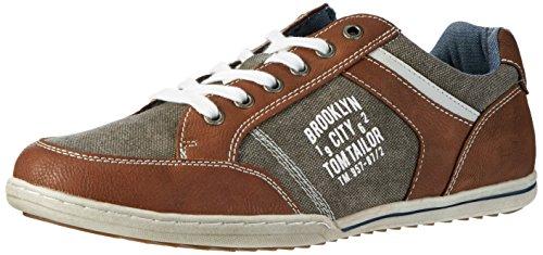 TOM TAILOR Herren 2789006 Low-Top Braun (Cognac)