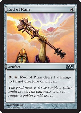 Magic: the Gathering - Rod of Ruin (217/249) - Magic 2014