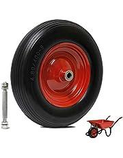 YAOBLUESEA Kajakwiel, wiel voor kanoën, drakenboot, pechbestendige wielen, massief rubberen wielen, PU wiel, kruiwagenwiel, vervanging kajak autodrager banden dolly, bootskajakwielen (380 mm, rood)