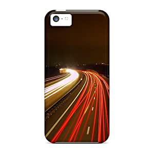 Durable Defender Case For Iphone 5c Tpu Cover(road Lights)