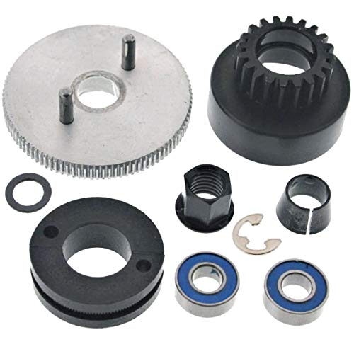 (Traxxas 1/10 Nitro Slash 3.3 2WD 20T CLUTCH BELL, FLYWHEEL, SHOES, SPRING & NUT)