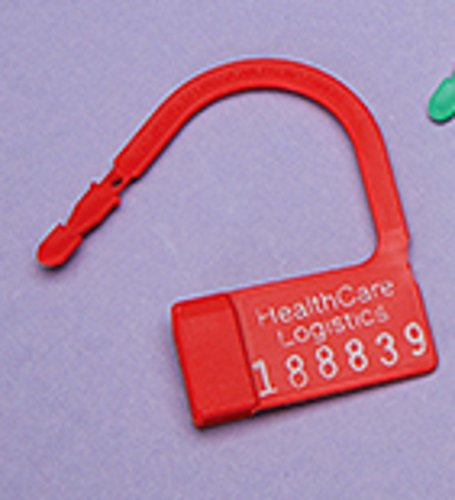 DSS Heavy Duty Padlock Seal, Numbered (Red)