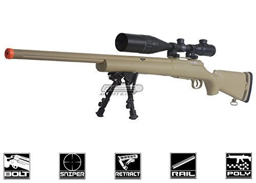 echo 1 full metal m28 bolt action sniper rifle (tan)(Airsoft Gun) (Best Affordable Airsoft Sniper Rifle)