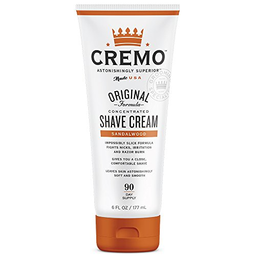 - Cremo Sandalwood Shave Cream, Astonishingly Superior Smooth Shaving Cream Fights Nicks, Cuts And Razor Burn, 6 Ounces