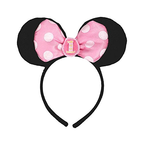 Disney Baby Minnie Mouse 1st Birthday Ears Headband Party Hat Amazoncouk