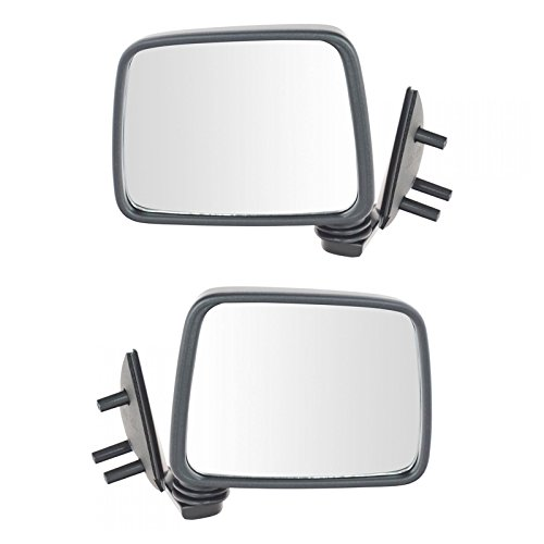 Black Manual Side View Mirror Left/Right Pair Set For Pathfinder D21 Truck