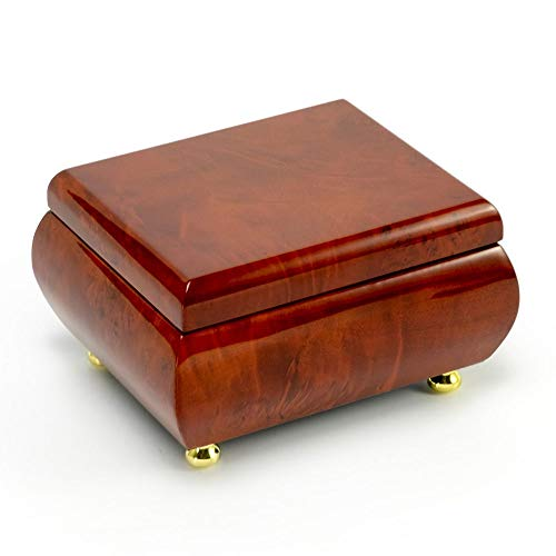 (Astonishing Hi Gloss Wood Tone Petite Music Box - Over 400 Song Choices - Waltz of The Flowers - Swiss)