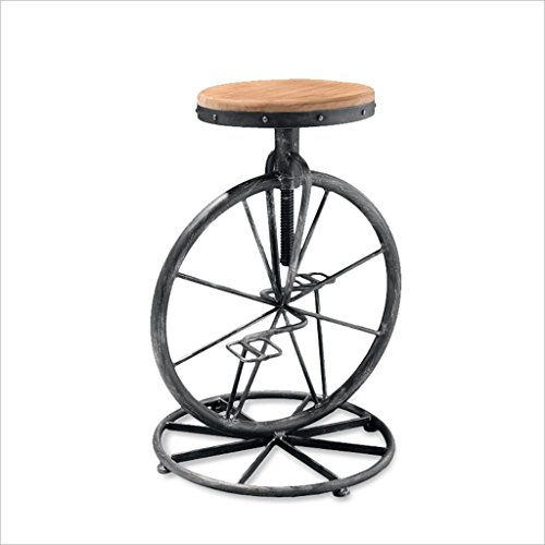 Sillas De Bar, Forma De Monociclo Taburete Redondo Taburete Alto Silla De Comedor Altura De La Silla De Hierro 60 A 70 Cm