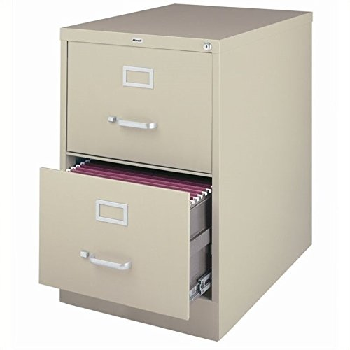 Scranton & Co 2 Drawer Legal File Cabinet in Putty
