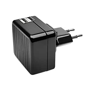 Kensington K39396EU - Cargador doble de pared USB, sin cables, para tablet