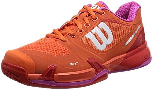 Wilson Rush Pro 2.5 Damen Tennisschuhe - Orange / Rot Kapuzinerkresse / feuriges Rot / Rosen-Veilchen