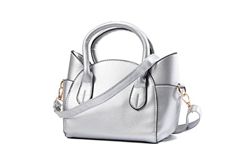 Purse Silver Girls' Bag Women's Pu Cute Crossbody Ear Bags Shoulder XMLiZhiGu 2 Leather Cat Handbag Kitty qAUZqt