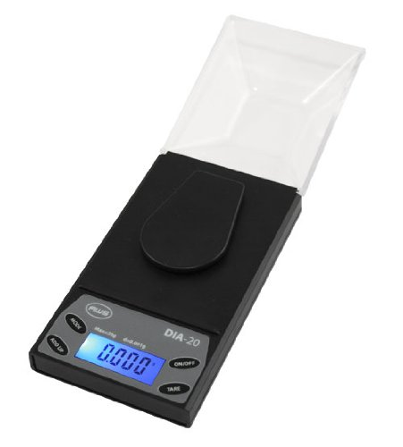 American Weigh Scales DIA20 Black 20 x 0.001G Diamond Scale (Point Scale)