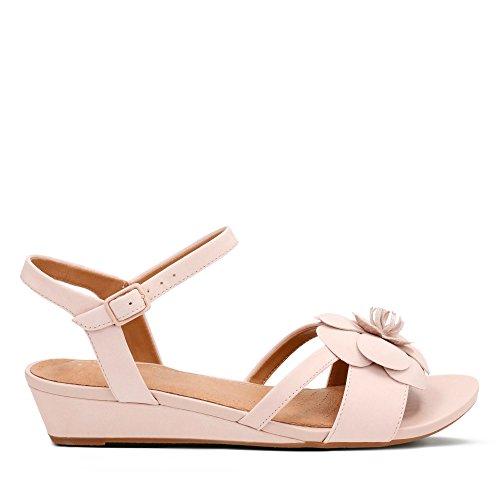 Clarks Parram Stella Nubuck Sandals in Dusty Pink