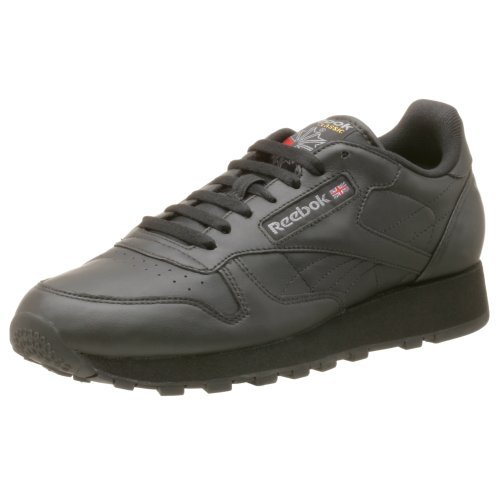 Reebok Men's Classic Leather Sneaker,Black,10.5 M Lo Mens Classic Shoes