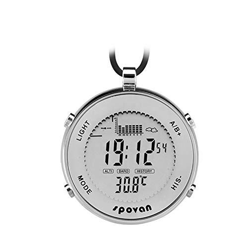 - haixclvyE Men Waterproof Fishing Watch,EL Backlight Altimeter Alarm Stopwatch Sport Pocket Watch Smart Watch White