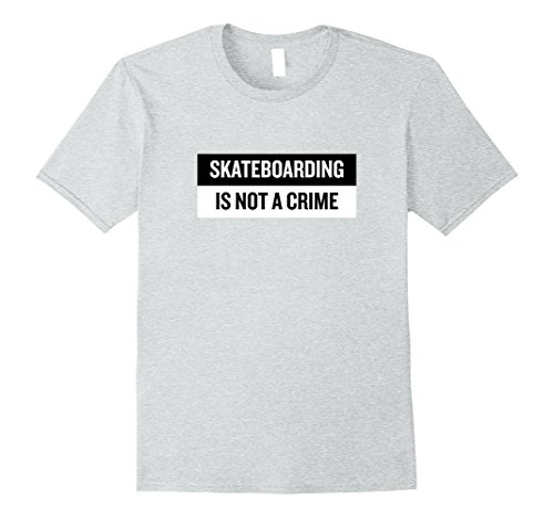 Mens Skateboarding is not a crime T-Shirt Skate Tee Skateboard 2XL Heather Grey